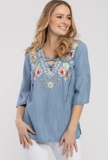 Tribal Embroidered 3/4 Bell  Tunic