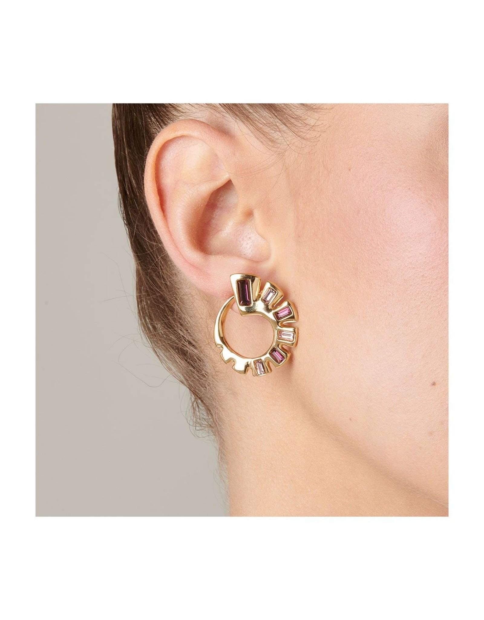 Uno de50 Nightbird Wrap Gold Earrings