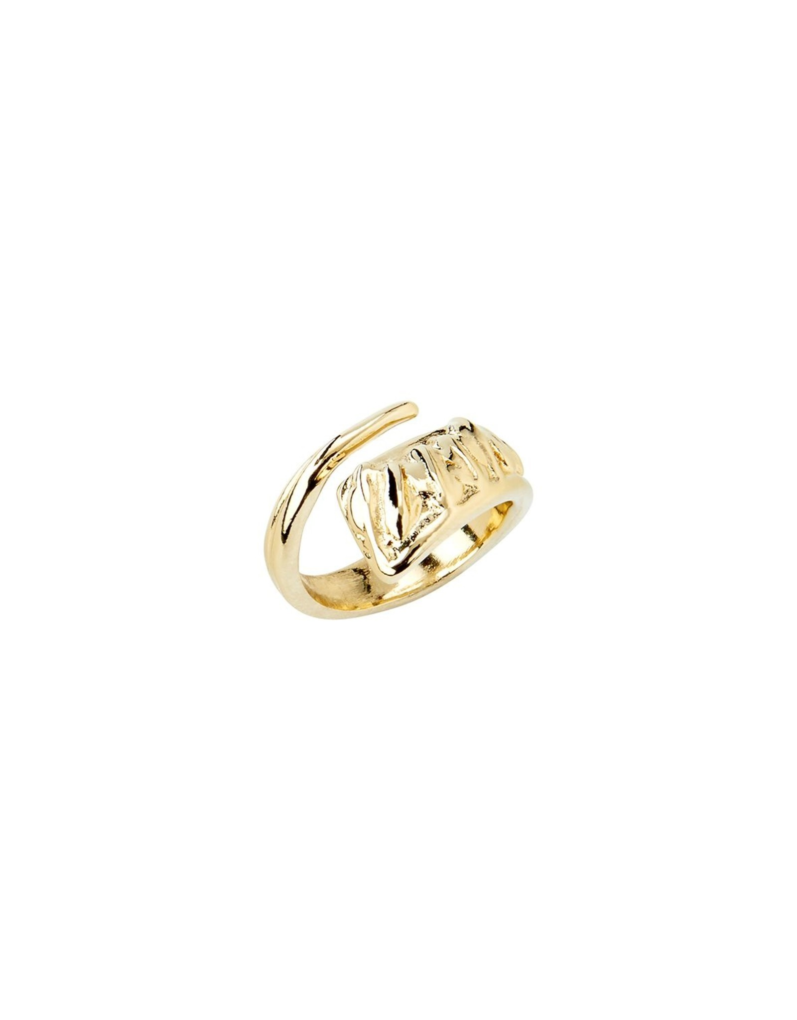 Uno de50 A Tickle with a Feather Gold Ring