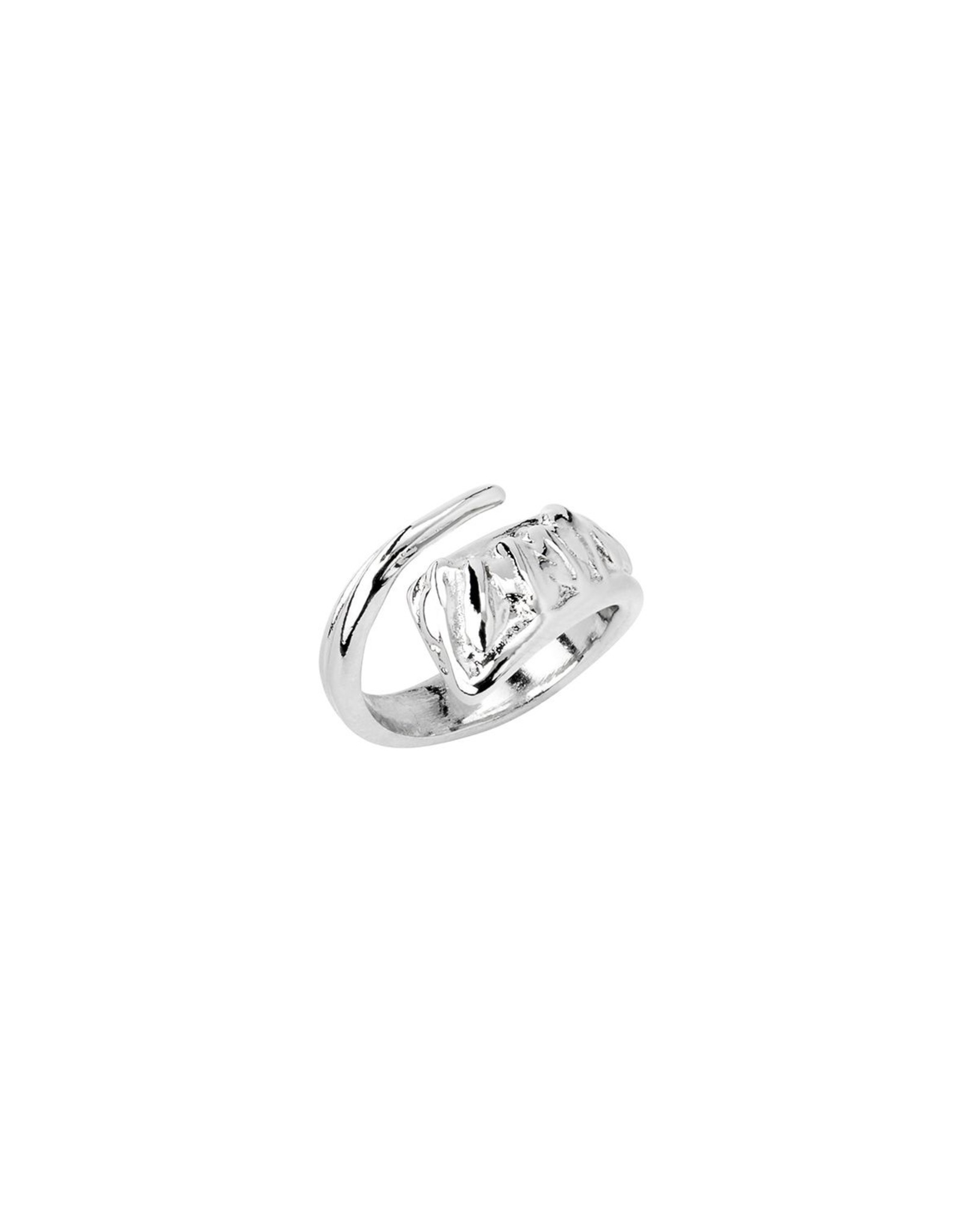 Uno de50 A Tickle of a Feather Silver Ring