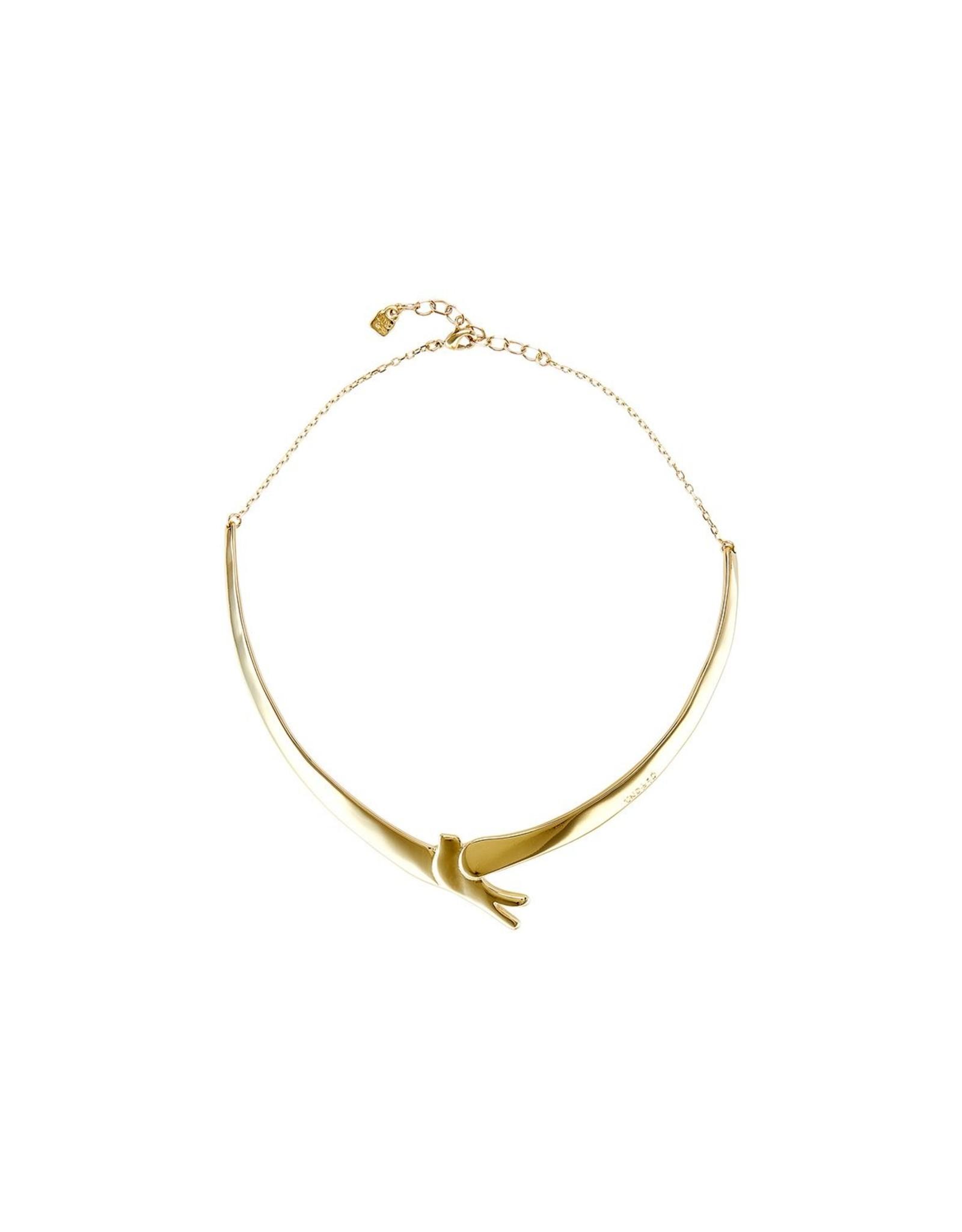 Uno de50 Bird Wings Necklace Gold