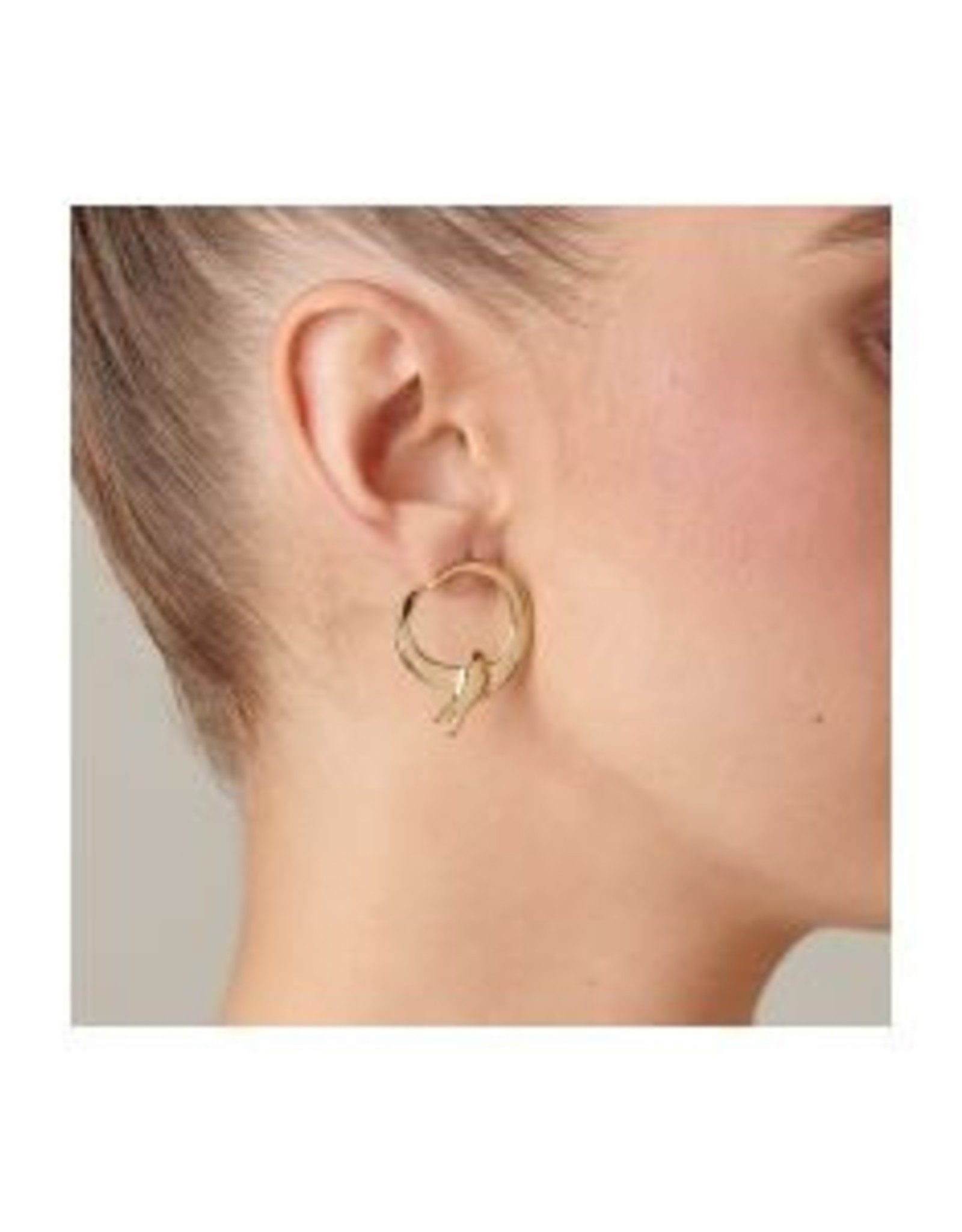 Uno de50 Come Fly With Me Earrings Gold