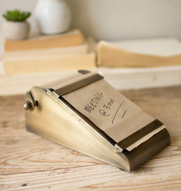 Kalalou Desktop Note Roll with Antique Brass Holder