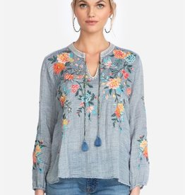 Johnny Was Collection Norah Effortless Peasant Blouse Medium