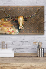 Greenbox Art Longhorn Geode Canvas Wall Art 48x24x2