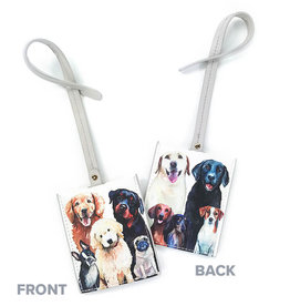 Greenbox Art Best Friend-Dog Bunch Luggage Tag 3x4