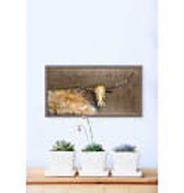 Greenbox Art Longhorn Geode -Tribal Copper Mini Framed Canvas 10x5
