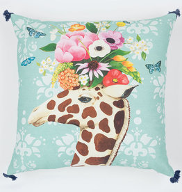 Greenbox Art Haute House Giraffe Pillow 20x20