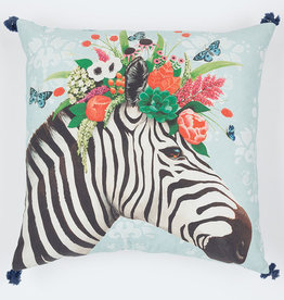 Greenbox Art Haute House Zebra Pillow 20x20