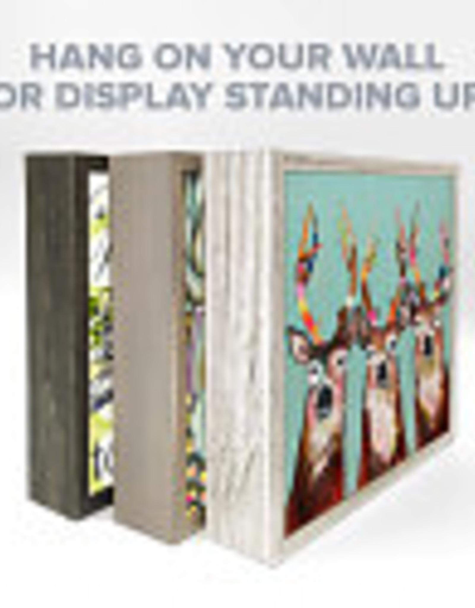 Greenbox Art Best Friend- Contemplative Corgi Mini Framed Canvas 6 x 6