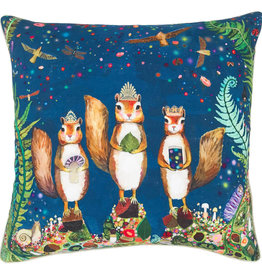 Greenbox Art Squirrel Royale Pillow 20x20