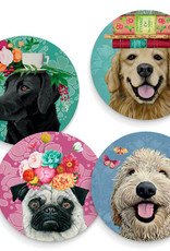 Greenbox Art Happy Dogs-Set Of 4 Coasters 3.93x9x28