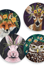 Greenbox Art Flora And Fauna Set Of 4 Coasters