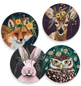 Greenbox Art Flora And Fauna Set Of 4 Coasters 3.93x9x28