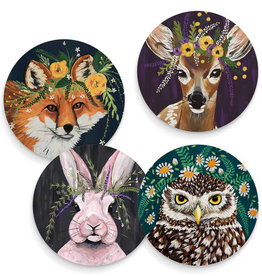 Greenbox Art Flora And Fauna Set Of 4 Coasters