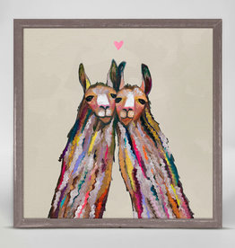 Greenbox Art Llama Love- Neutral- Mini Framed Canvas 5x7