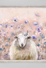 Greenbox Art Wildflower Sheep Mini Framed Canvas 6x6