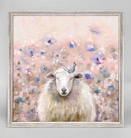 Greenbox Art Wildflower Sheep Mini Framed Canvas 6x6