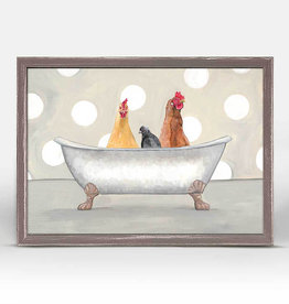 Greenbox Art Rooster Tub Party Mini Framed Canvas 7x5