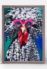 Greenbox Art Polish Chicken Mini Framed Canvas 7x5