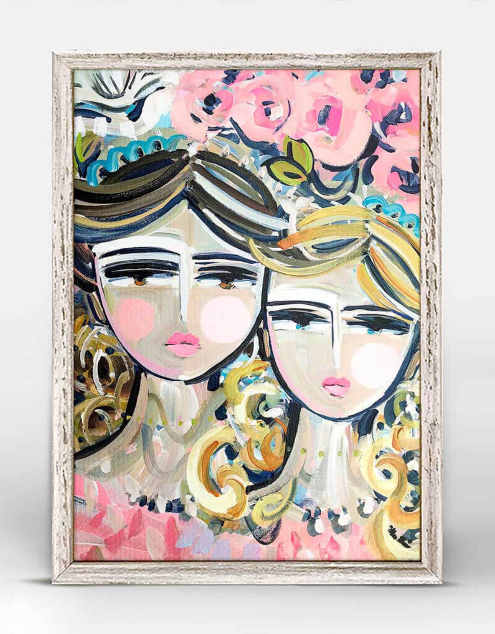 Greenbox Art Sisters Rosa Mini Framed Canvas 7x5