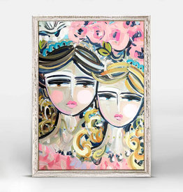 Greenbox Art Sisters Rosa Mini Framed Canvas 7x5