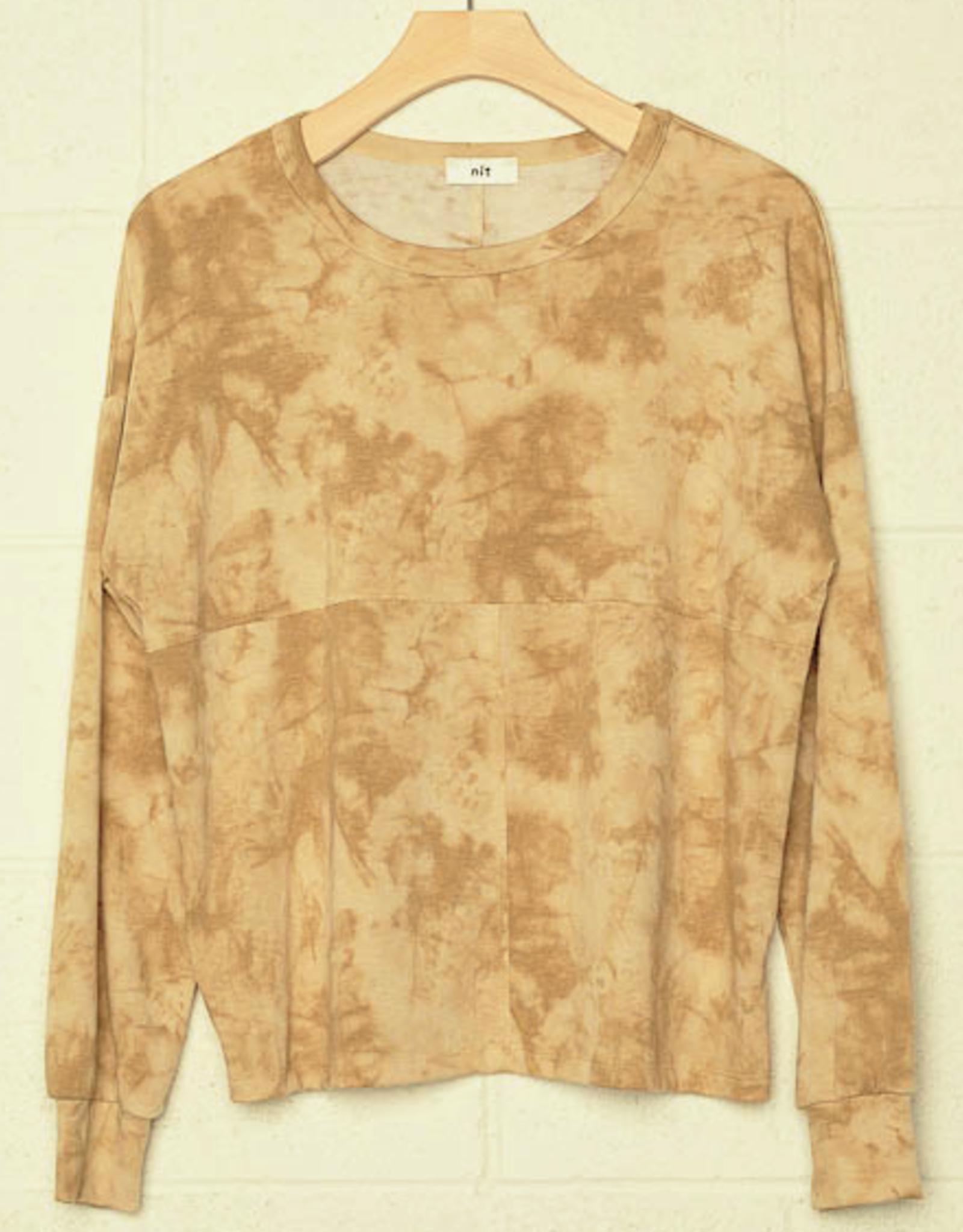 no less than Tie Dye Sweatshirt w/Raw Edges