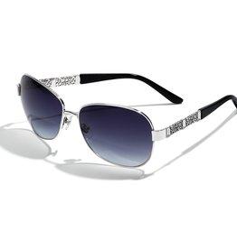 Brighton Baroness Sunglasses Silver & Black