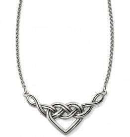 Brighton Interlok V Heart Necklace
