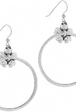 Brighton Floral French Wire Hoop Earrings