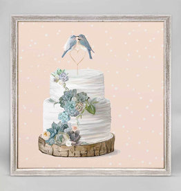 Greenbox Art Love Birds Blush Mini Framed Canvas