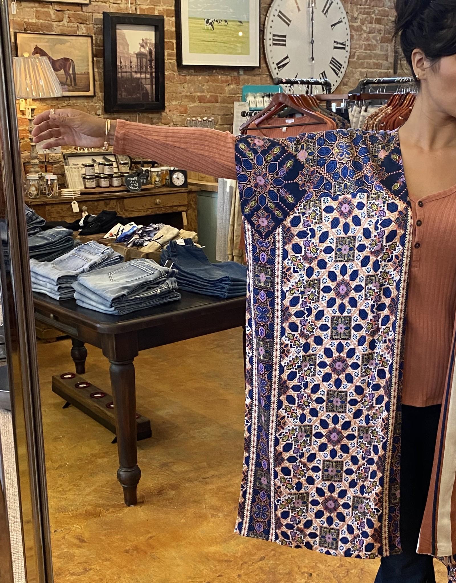 Tribal Reversible Kimono BlueNight*