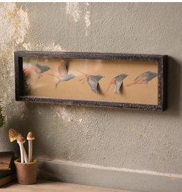 Kalalou Framed Paper Flying Birds Under Glass