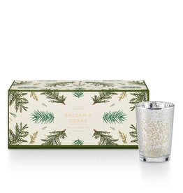 Illume Balsam & Cedar Mini Luxe Sanded Mercury Glass Trio