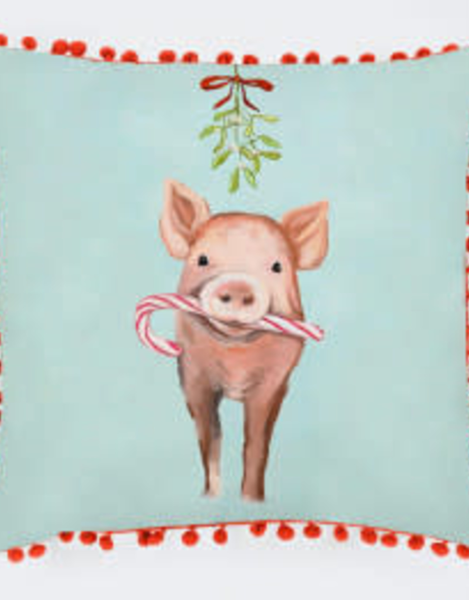 Greenbox Art Holiday - Festive Pig Pillow 20 x 20