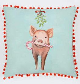 Greenbox Art Holiday - Festive Pig Pillow 20 x 20