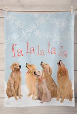 Greenbox Art Holiday - 5 Goldens Singing Tea Towel