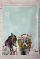 Greenbox Art Holiday - Cow & Farm Tea Towel