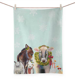 Greenbox Art Holiday - Cow & Farm Tea Towel