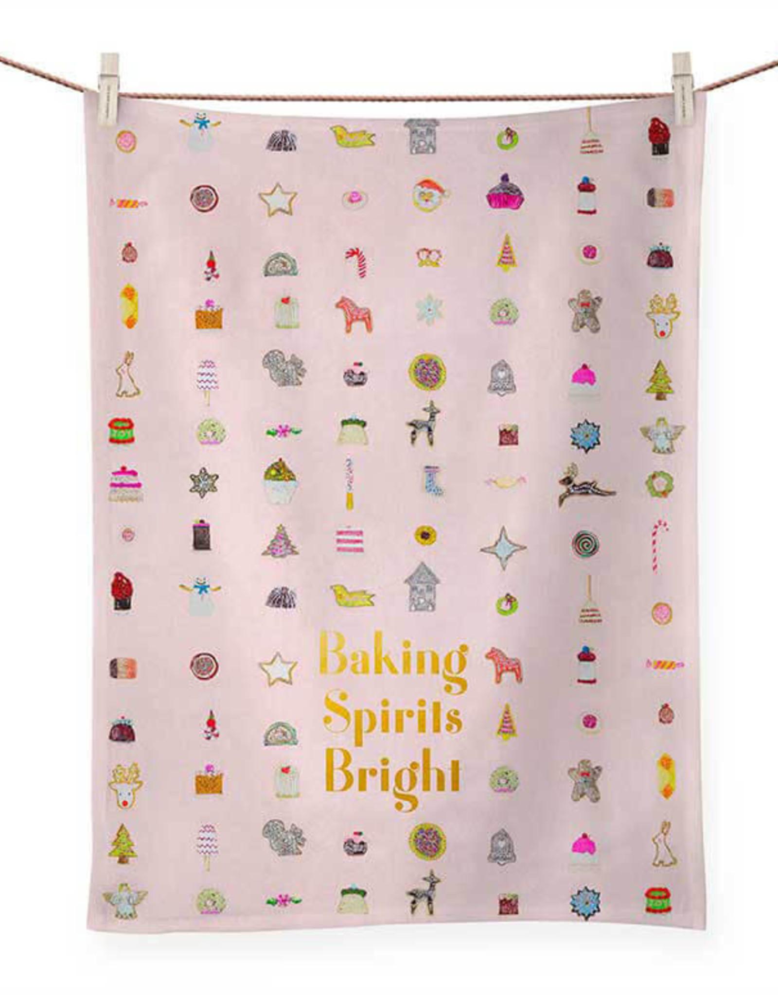 Greenbox Art Holiday - Baking Spirits Bright Tea Towel