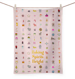 Greenbox Art Holiday - Baking Spirits Bright Tea Towel