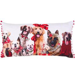 Greenbox Art Holiday - Festive Puppy Pack Pillow 20 x 20