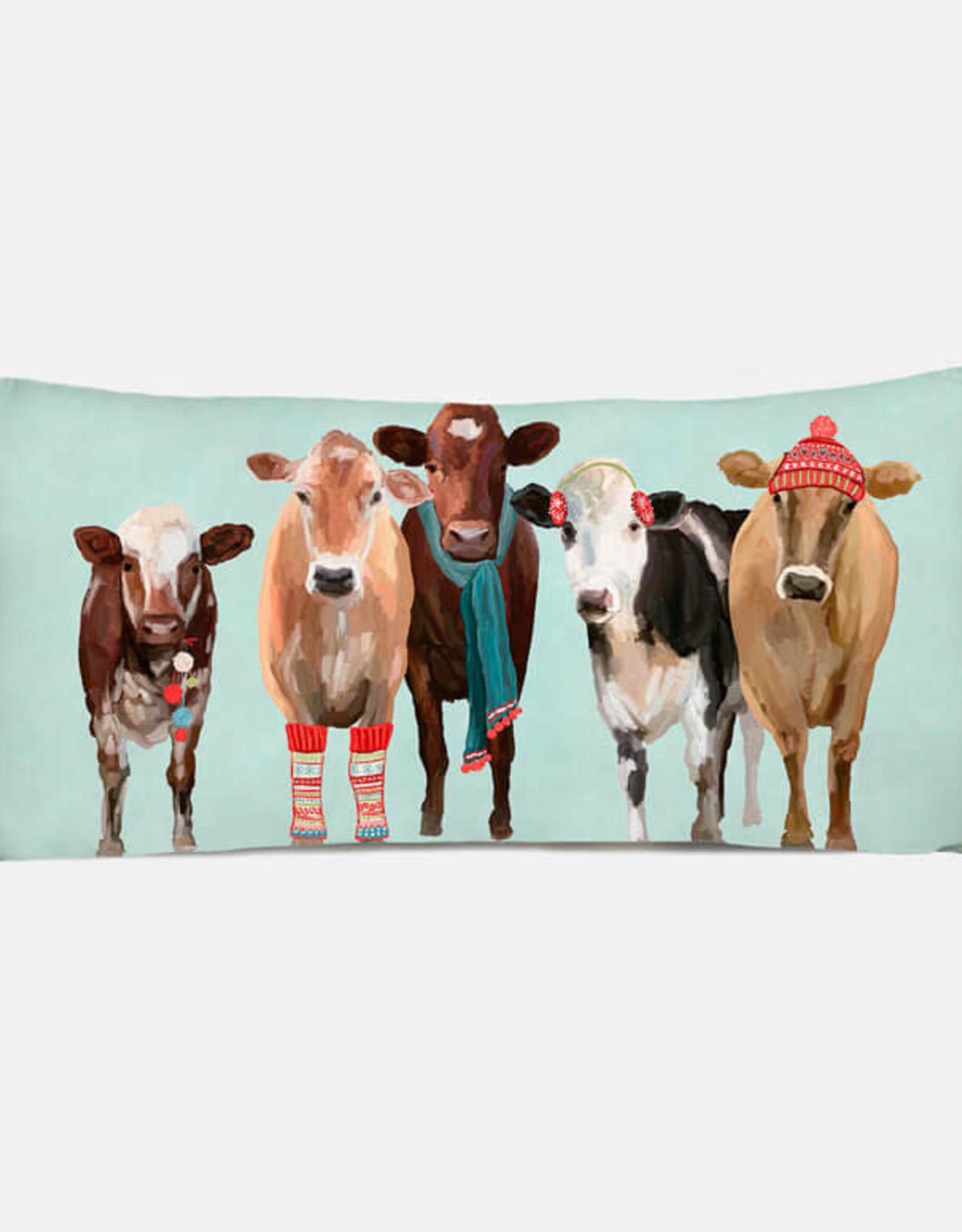 Greenbox Art Holiday - Festive Cow Club Pillow