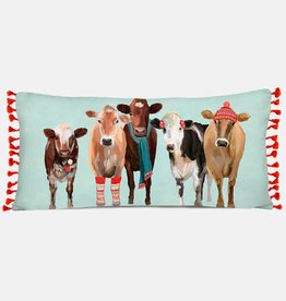 Greenbox Art Holiday - Festive Cow Club Pillow