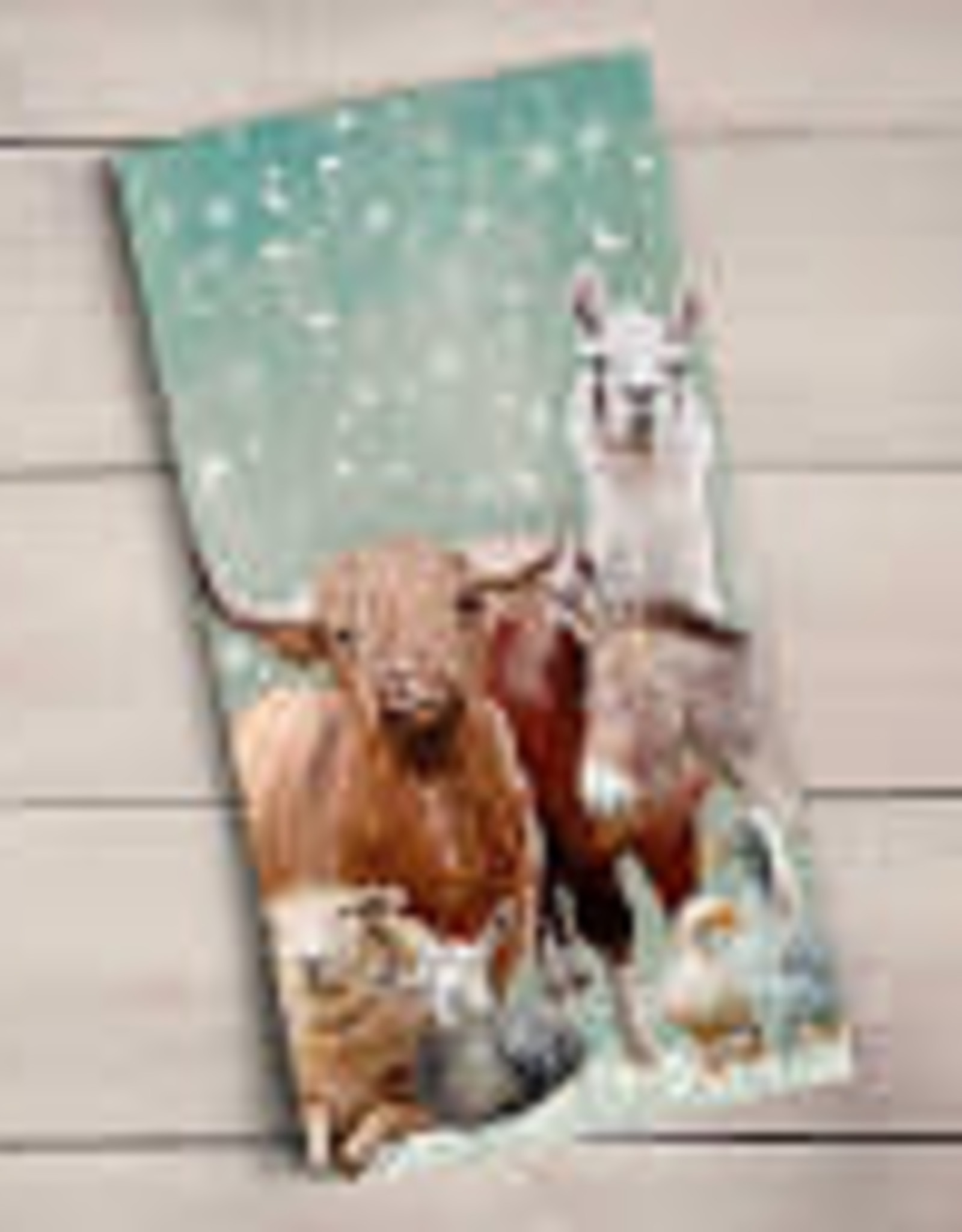 Greenbox Art Holiday - Winter Farm Tea Towel