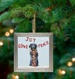 Greenbox Art Holiday - Joy Love Peace Embellish Framed Wooden Ornament