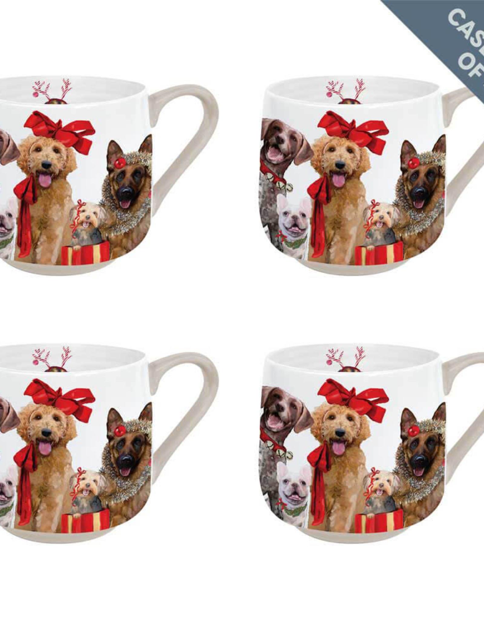 Greenbox Art Holiday-Festive Puppy Pack Case Pack Serveware Mug