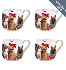 Greenbox Art Holiday-Festive Puppy Pack Case Pack Serveware Mug