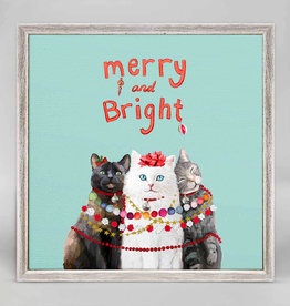 Greenbox Art Holiday -  Festive Cat Trio Mini Framed Canvas