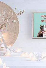 Greenbox Art Holiday -  Festive Cat Trio Mini Framed Canvas